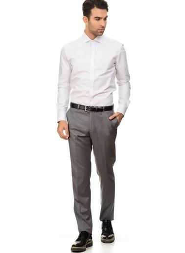 Cotton Bar Uzun Kollu Gömlek Gri
